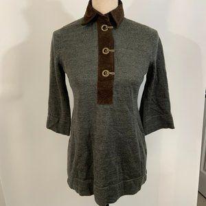 Soft Surroundings Wool Sweater PXS Tunic Metal